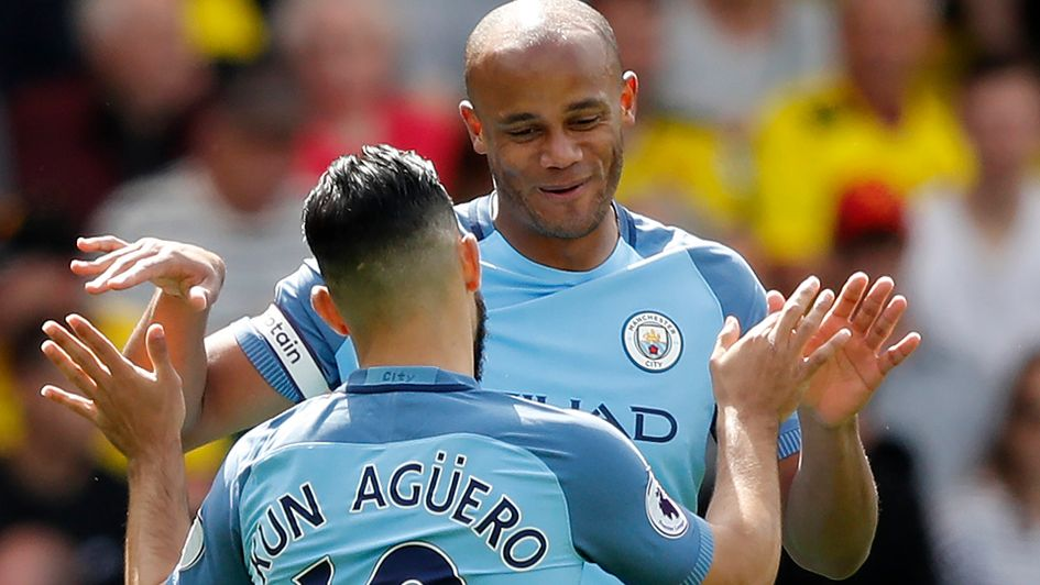 Manchester City secure third place with first-half goal blitz at Watford