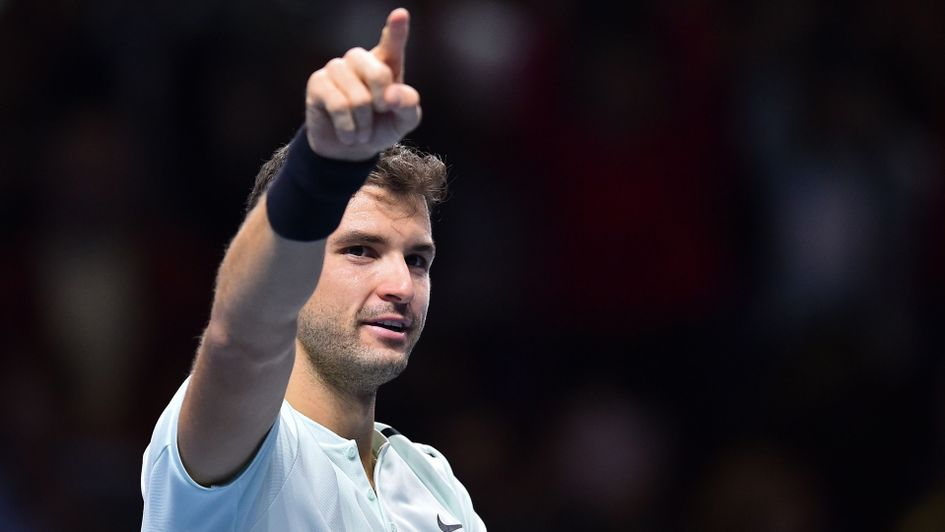 Dimitrov labors past Thiem at ATP Finals