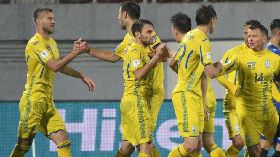Ukraine celebrate against Kosovo