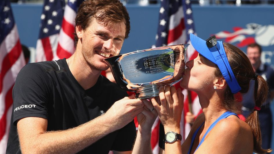 US Open: Jamie Murray and Martina Hingis win the mixed doubles title