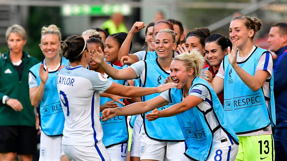 England's Jodie Taylor scores hat-trick in hammering of Scotland