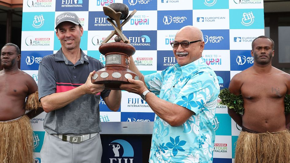 NZ golfer shares lead at Fiji International